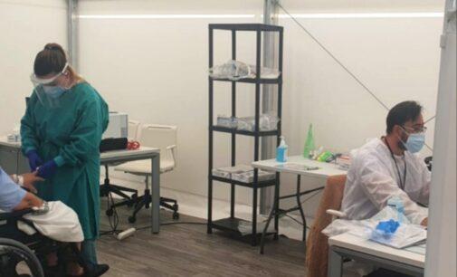 El hospital de campaña de Alicante recibe a los primeros pacientes con COVID-19