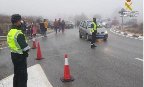 Guardia Civil apela a la responsabilidad ciudadana para evitar aglomeraciones y cortes en las carreteras