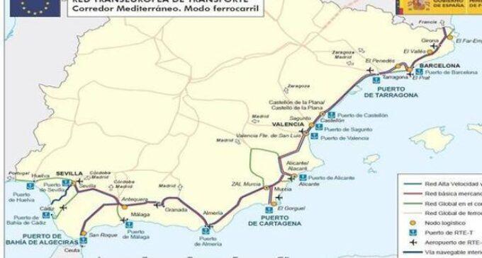 El puerto de Algeciras propone un ramal del Corredor Mediterráneo que pasaría por Villena