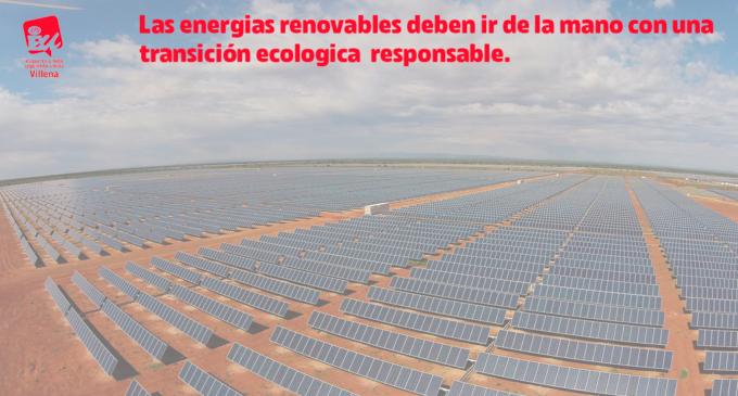 IU contra las macro-plantas fotovoltaicas