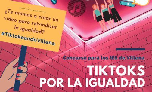 Animan a los jóvenes a participar en el primer concurso de vídeos 'tik-tok' a favor de la Igualdad