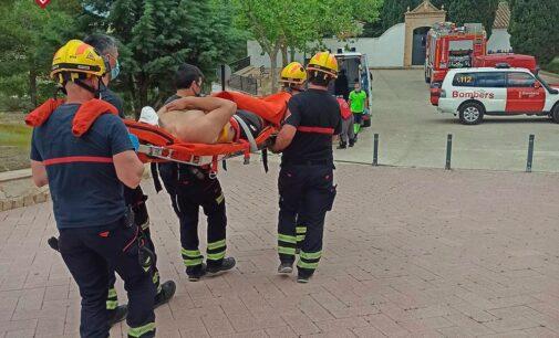 Los Bomberos rescatan a un hombre en Cañada