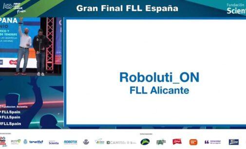 El equipo Roboluti_on de Villena, terceros en la final de First Lego League España