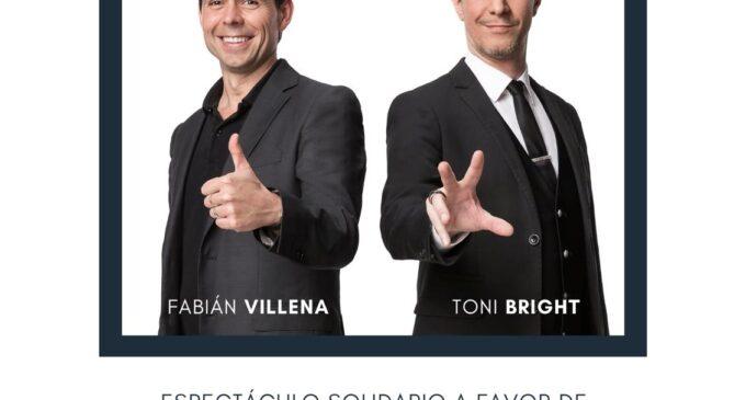 Fabián Villena y Toni Bright realizarán un espectáculo solidario a beneficio de AMIF y Zoe