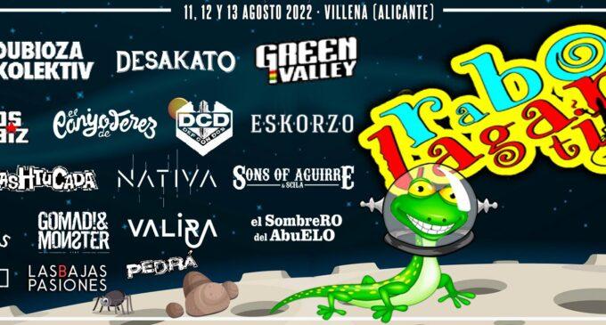 Rabolagartija 2022: nuevo avance de cartel y entradas a la venta
