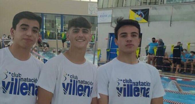 Tres nadadores del Club Natación Villena participarán en el Autonómico Infantil