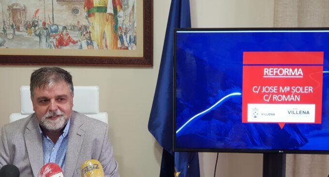 Las obras del plan de mejora de la red de saneamiento y reurbanización de calles en Villena comienzan en José María Soler