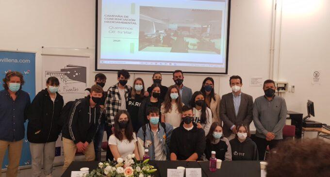 Alumnos de Las Fuentes preparan la campaña de sensibilización medioambiental de Comercios Vi