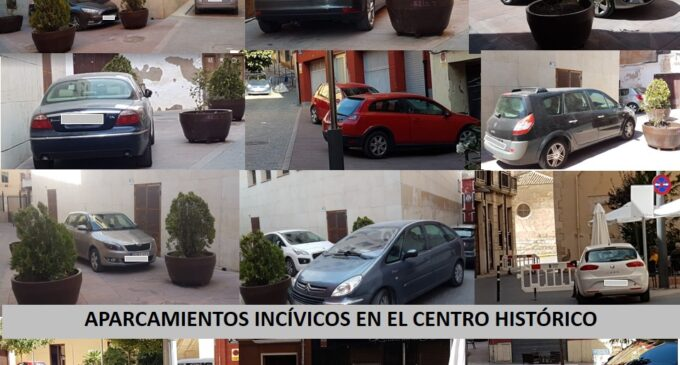 Hartazgo de aparcamiento ilegal en el centro histórico