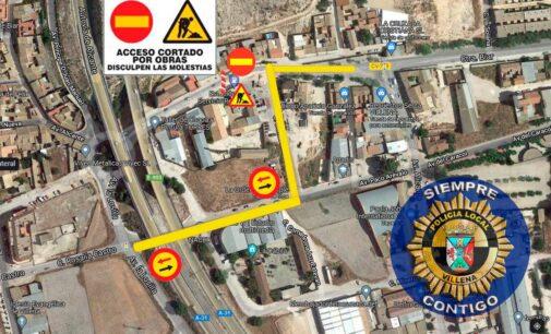 Cortan hoy un tramo de la Avenida de Alicante para reasfaltarla