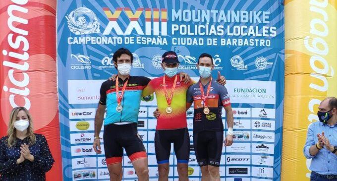 El agente de Villena Felipe Cutillas gana la medalla de bronce en el XXIII Campeonato de España de MTB para Policías Locales