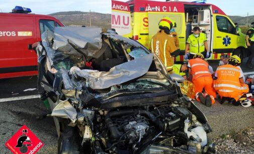 Herido grave tras colisionar varios vehículos en la A-31 a la altura de Villena