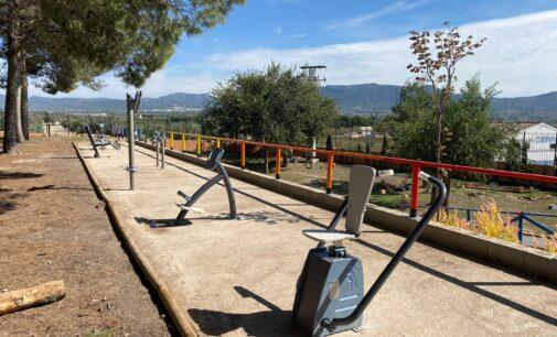 El Ayuntamiento instala juegos biosaludables en las instalaciones del Polideportivo